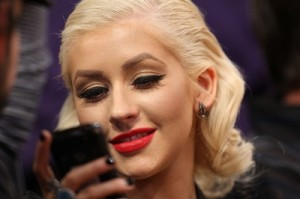 New Channel 957 Artist, Christina Aguilera, Texts From Her Cell at the NBA Finals