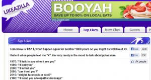 Screenshot of LikeAZilla.com
