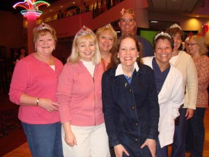 Tiara's and a crown fill Celebration Cinema during Channel's Royal Wedding Viewing Party!