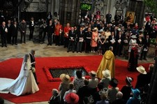 The Royal Wedding vows are exchanged inside Westminster Abbey