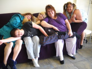 Tracy's Faces Salon and Day Spa offers foot massages at Sabrina's Sleepover!