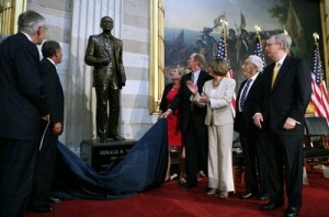 Congressional Leaders Dedicate Statue Of President Gerald Ford