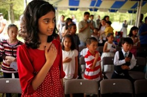 """Pledge of Allegiance is altered by NBC omitting """"Under God"""" twice!"""