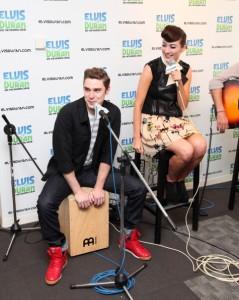 Karmin Visit The Z100 Elvis Duran Morning Show
