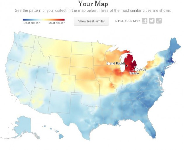 How Well Do You Speak Michigander - Us dialect map quiz