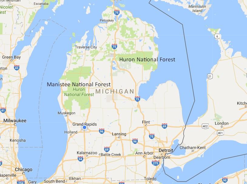 Michigan State Map Usa Maps Usa Map Images - Michigan state map usa